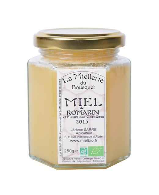 Miel de romero orgánica - Miellerie du Bousquet