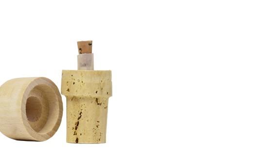 Tapónes vertedores - corcho y madera 25 cl - La Guinelle