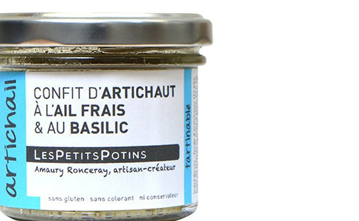 Confit de alcachofa con ajo fresco y albahaca - Les Petits Potins