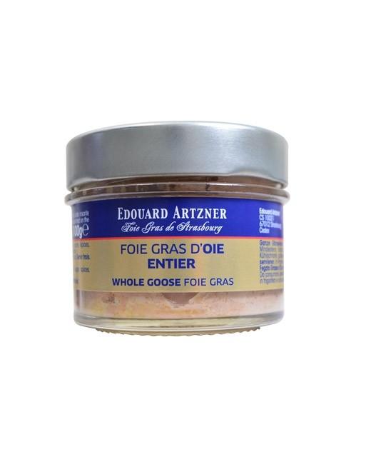 Foie gras de ganso entero en gelatina 120 g (conserva) - Edouard Artzner