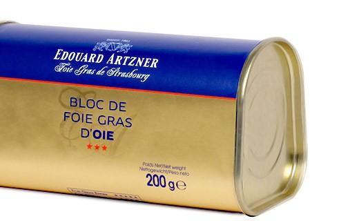Bloque de foie gras de ganso 200g - Edouard Artzner