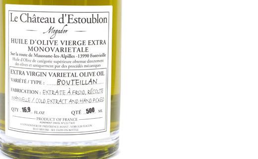 Aceite de oliva virgen extra - Bouteillan 100% - Château d'Estoublon