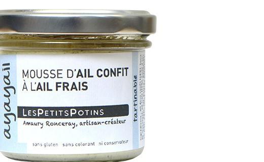 Mousse de ajo confitado con ajo fresco - Les Petits Potins
