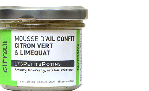 Mousse de ajo confitado con lima y quinoto - Les Petits Potins