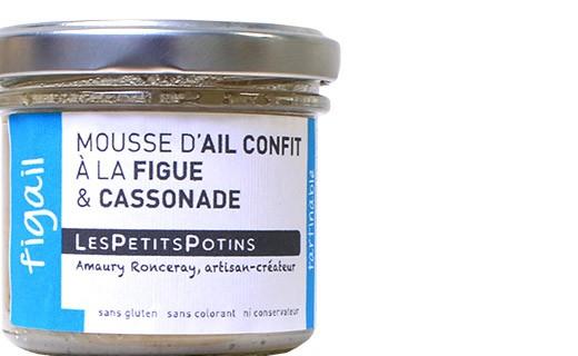 Mousse de ajo confitado con higo y azúcar moreno - Les Petits Potins