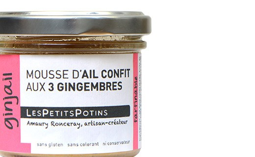 Mousse de ajo confitado con tres jengibres - Les Petits Potins