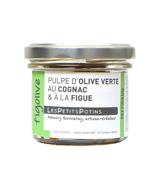 Pulpa de aceituna verde con Coñac e higos - Les Petits Potins