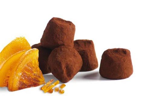 Trufas Fantasía con Naranja confitada - Mathez