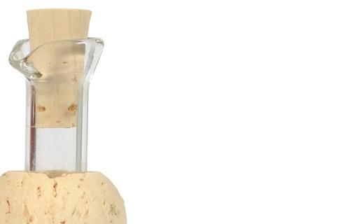 Tapón de vidrio y corcho - Leonardi